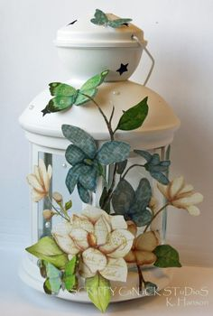 Altered Lantern by Karen Hanson - Scrapbook.com