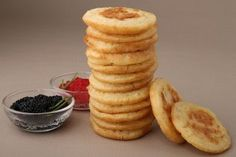 Homemade Blini with Lumpfish Caviar, GreatPartyRecipes.com