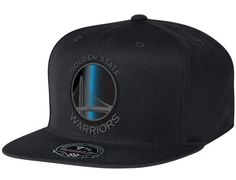 Golden State Warriors Black Foil High Crown Fitted Baseball Cap by MITCHELL & NESS x NBA