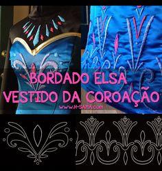 H-SAMA blog: COMO FAZER? cosplay ELSA vestido da Coroação (Coronation Gown) - Frozen