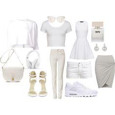 """White"" by msara23 on Polyvore"
