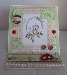 Easel Card, Klappkarte zum Geburtstags, handgemacht von KartengalerieDoris auf Etsy Happy Birthday, Decorative Boxes, Etsy, Frame, Home Decor, Handmade Birthday Cards, Homemade, Craft, Happy Aniversary