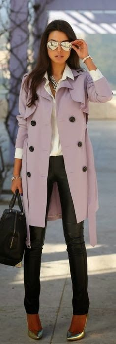 Fabulous long coat outfit for winter