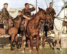 Mounted Waffen SS scouts pose for a photo. On the back foot in Russia, 1944