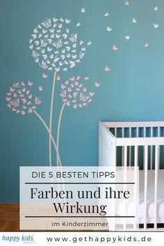 Practical tips for the color design of your children's room. Children's room colors effect C Room Color Design, Kids Room Design, Room Wall Painting, Kids Room Wall Art, Kids Interior, Cafe Interior, Living Room Decor, Bedroom Decor, Room Wall Colors