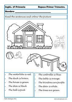 Recursos de inglés: Fichas de ejercicios de inglés para primaria Hoy os dejamos la segunda entrega de ejercicios de inglés