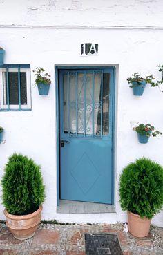 Gray Front Door Colors, Blue Wood, Wood Doors, Garage Doors, Outdoor Decor, Happiness, House, Wallpapers, Summer