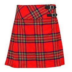 Women's Girls Tartan Pleated Billie Kilt Skirt With Leather Buckled Straps Scottish Clothing, Scottish Kilts, Kilt Skirt, Kilts For Sale, Kilt Jackets, Tartan Kilt, Wedding Jacket, Cute Woman, Black Blouse