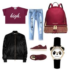 """"" by marynn-rlle on Polyvore featuring mode, Puma, Givenchy et Michael Kors"