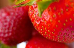 8 Beauty Tips [with] Strawberries   ~Those pretty little berries do more than just please our palates: they clear up acne and oiliness, make skin younger and smoother, whiten teeth, reduce under-eye puffiness, leave hair glossy and beautifully conditioned, and so much more!~