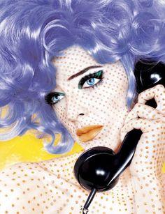 Roy Lichtenstein inspired make-up; by Mike Ruiz for Zink