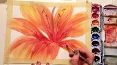 water color flower tutorial - YouTube