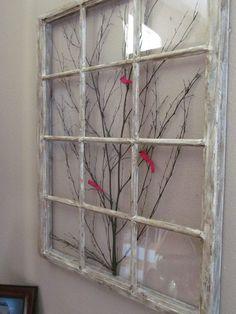 Old Window Frame Decor New Window Frame Art by On Etsy Antique Windows, Wooden Windows, Vintage Windows, Old Windows Painted, Decorative Windows, Antique Window Frames, Reclaimed Windows, Recycled Windows, Vintage Doors