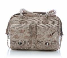 Eh Gia Mia pocket Bag 2.0 Snake Leather Beige Hondendraagtas