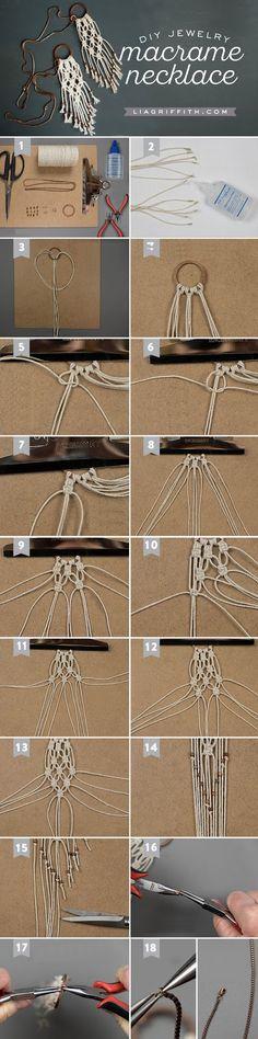 Πώς να φτιάξουμε μοναδικά μακραμέ κολιέ! | Φτιάξτο μόνος σου - Κατασκευές DIY - Do it yourself
