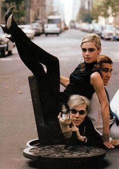 1960s photo Edie Sedgwick with Andy Warhol