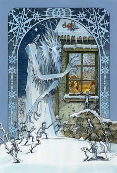 'The Frost King' by Tomislav Tomic Fantasy World, Fantasy Art, Fairytale Art, Polychromos, Winter Wonder, Snow Queen, Fairy Art, Children's Book Illustration, Jack Frost