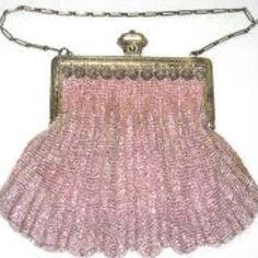 Pink vintage beaded bag.