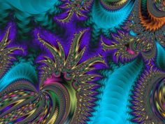 A collection of heart themed fractal designs.
