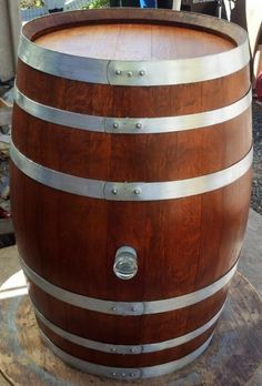 A Decorative Wine Barrel with one of those beautiful Lux bungs. -- #wine