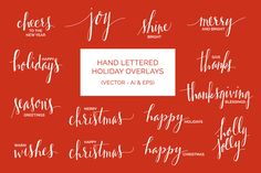 Hand Drawn Holiday Overlays (Vector) - Illustrations - 1