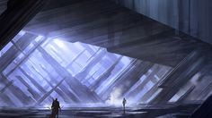 DC Universe Online - Fortress of Solitude, Michael Pedro Concept Art World, Fantasy Concept Art, Fantasy Art, Landscape Concept, Fantasy Landscape, Another World, Out Of This World, Dc Universe Online, World Images