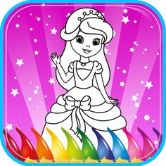 Princess Coloring Book for kids, coloring game for girls, kindergarten and preschool toddler girls, children all ages. Beautiful pictures of princesses, knights, castles, unicorn, horse, heart, love. Children ages 2, 3, 4, 5 Years Old. Free Trial.: Amazon.ca: Appstore for Android