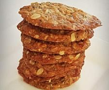 Recipe Organic ANZAC Biscuits by BeautyFoodie - Recipe of category Baking - sweet My Recipes, Baking Recipes, Sweet Recipes, Cookie Recipes, Snack Recipes, Dessert Recipes, Snacks, No Bake Treats, No Bake Desserts