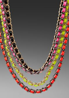 CC SKYE Neon Multi-Chain Necklace in Multi at Revolve Clothing - Free Shipping!