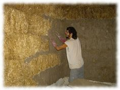 Casa Yurt, Straw Bale Construction, New Farm, Straw Bales, Building Systems, Recycling, Earth Homes, Natural Building, Earthship