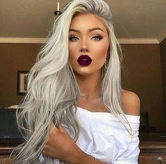 🖤KATERINA🖤 Blonde Makeup, Red Lipstick Makeup Blonde, Blonde Hair Red Tips, Blonde On Blonde, Tanned Skin Blonde Hair, Makeup On Blondes, Blonde Hair Color 2017, Red To Blonde Hair, Long Blonde Hairstyles