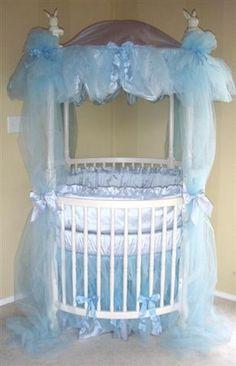 Powder Blue Dreaming round crib bedding & Baby Doll Bedding Darling Pique Round #Crib #Bedding Set Pink ...