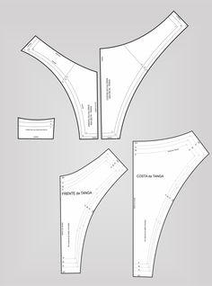 Gabarito da Calcinha – Jonatas Verly Source by akebehrami pattern Underwear Pattern, Lingerie Patterns, Sewing Lingerie, Jolie Lingerie, Dress Sewing Patterns, Fashion Sewing, Diy Fashion, Sewing Clothes, Diy Clothes
