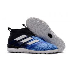 465d87816e552 Adidas ACE - Adidas ACE Tango 17 Purecontrol Turf Blue Black White Football  Shoes. Bleu Noir