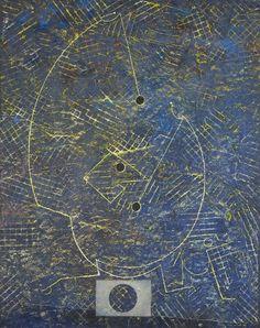 Max Ernst, Le tambour major de l'armée céleste / The drum major of the heavenly host (Oil on canvas), 1970.