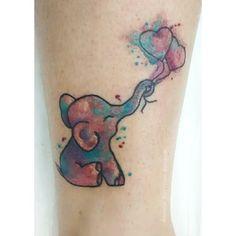Elefantinho aquarela  Arte: Amanda Barroso  Agendamento e orçamentos Estúdio Oca Tattoo Av. Invernada 1923 Valinhos/SP  (19)99129 3606  #tattoo #tatuagem #watercolortattoos  #elefante #tatuagemaquarela #tatuagemaquarelada #inspirationtatto #tattoo2me #tatuagemfeminina #amandabarroso #ocatattoo