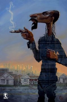 Snoop Doggy Dogg by Justin Bua
