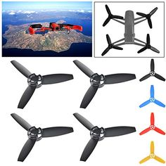 EEEKit Replacement Propellers Bundle for Parrot Bebop Drone 3.0 RC Quadcopter, 2 Pairs of Plastic Rotor Prop Propeller Main Blades - http://www.midronepro.com/producto/eeekit-replacement-propellers-bundle-for-parrot-bebop-drone-3-0-rc-quadcopter-2-pairs-of-plastic-rotor-prop-propeller-main-blades/