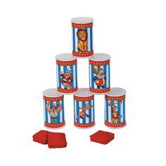 Carnival Can Bean Bag Toss Game - OrientalTrading.com