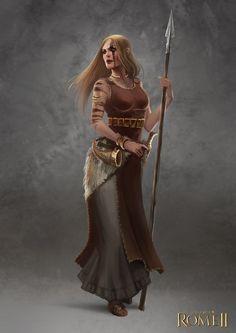 Total War: Rome II - Germanic Female Champion by telthona on DeviantArt