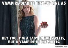 Vampire pickup lines