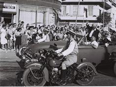 David Ben-Gurion arrives in Tel-Aviv, 1951.