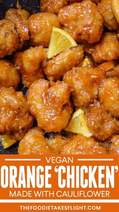 """Glazed Orange Cauliflower """"Chicken""""Are you currently after delicious vegetarian recipes? Tasty Vegetarian Recipes, Vegetarian Recipes Dinner, Veg Recipes, Vegan Dinners, Whole Food Recipes, Cooking Recipes, Healthy Recipes, Easy Vegan Dinner, Vegetarian Main Dishes"""