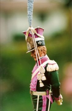 Lancer of Berg 1815 painted by Anne Harwood United Empire Miniatures 90 mm resin