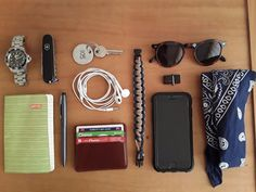 My extended daily carry submitted by Emrah Victorinox Spartan Invicta Pro Diver Notebook Scrikks ballpoint pen Hotic wallet Apple EarPods Paracord bracalet SanDisk Ultra Dual USB Drive 3.0 (SDDD2-032G-GAM46) Apple iPhone 6 Spigen Tough Armor Case iPhone 6/6s Keychain Tortoise sunglasses Cotton Bandana Blue These tools save my life everyday while i am working as a landscape architect.