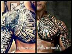Joe vs. Dwayne. I like Dwayne's tat but Joe's tat is so much more intricate and sexier plus it's a full sleeve.