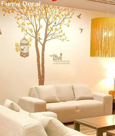 Tree and birds----Vinyl Wall Decal Tree Wall Decals Wall stickers Nursery wall decal children wall decals ( Welcome to custom)