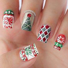 Weihnachtliche Nageldesigns