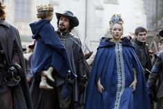 The Musketeers series 3x10. Aramis escorts t.he Queen and her son from the Church, which is being evacuated. 'I am Aramis' he tells the King. BBC