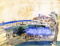 Antibes, 1926, by Raoul Dufy (French, 1877-1953).